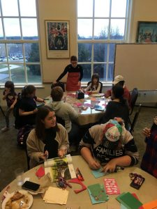 13 February 2020: The Center partnered with BAM to host an event where anyone could craft cards from reused materials for Valentine's Day. We also made a valentine for every student living on campus.