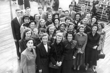 JYF students on board the ship in 1949.