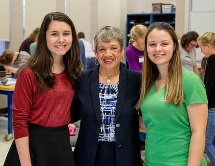Students meet Dr. Christine Darden