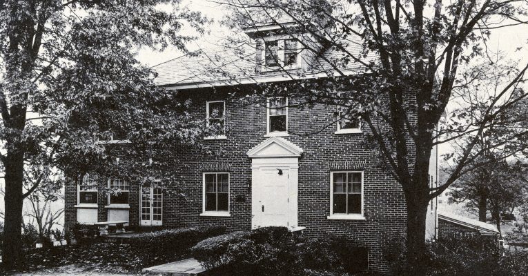 black and white picture of Boxwood House