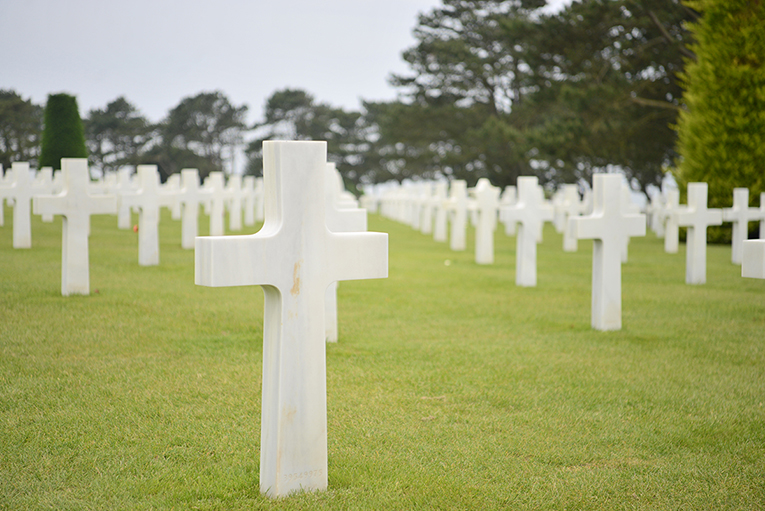 The American Cemetery and Memorial overlooking Omaha Beach.