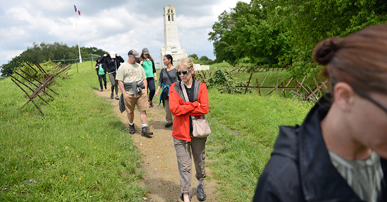 A sobering moment exploring the ruined landscape of Vauquois Hill near Verdun.