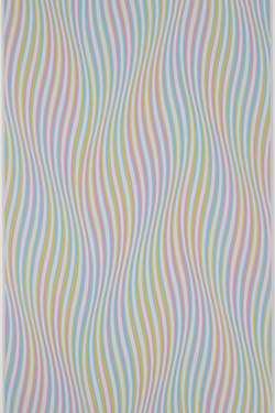 "Bridget Riley, ""Elapse,"" 1982, 40 x 25 inches. Gift of Shirlee S. Dalton, 2002. Sweet Briar College Art Collection"