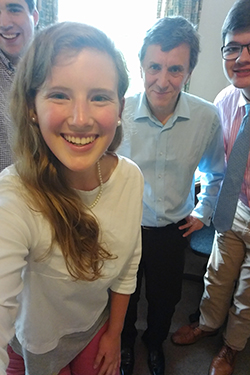 Emily Dodson and other VPO students in Oxford