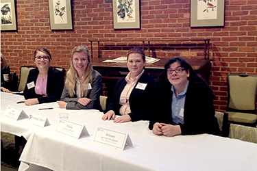 The Sweet Briar 2016 Ethics Bowl team: Annabeth Griffin (from left), Sarah Hunter, Felisha Leffler, and Brittany Behrens.