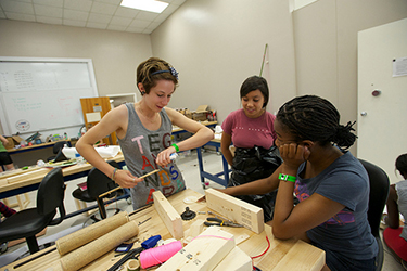 Mackenzie Crary '18 as a high school participant in the 2012 Explore Engineering course