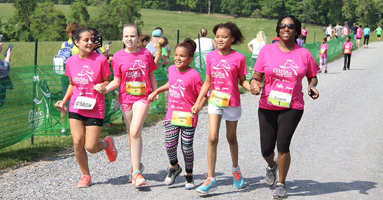 Girls on the Run finish line