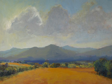 "Gray Dodson, ""Afternoon Light, Roseland,"" oil on linen, 22 x 28 inches"