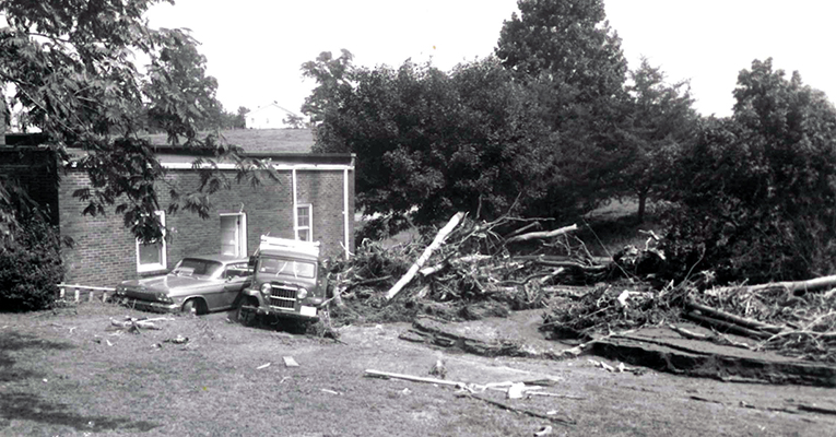 Damaged house after Hurricane Camille
