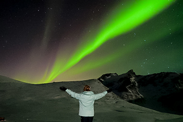 Rueger sees Northern Lights in Norway