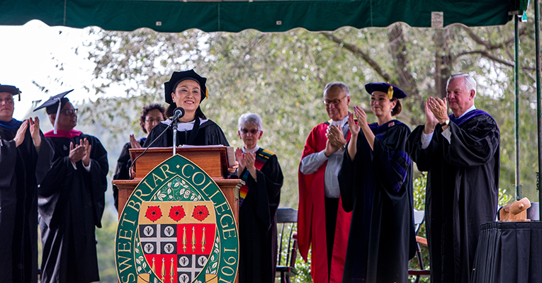 President Woo at inauguration