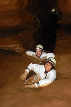 Students caving