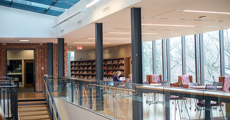 Old and new blend seamlessly in Mary Helen Cochran Library.