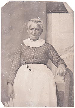 -Martha Penn Taylor, tintype, ca. 1870s, reproduction photo by Paige Critcher, 2012