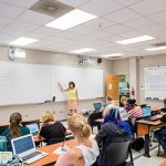 A fall 2016 math class at Sweet Briar College