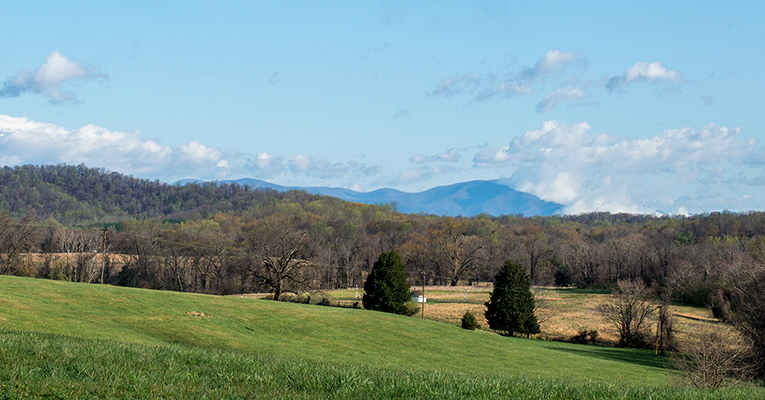 Sweet Briar campus mountains