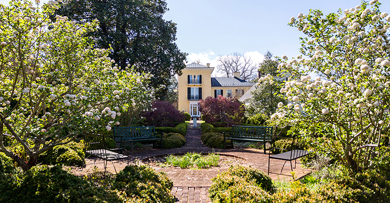 Sweet Briar House and garden