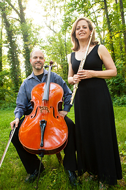 Cellist Andrew Gabbert and flutist Elizabeth Brightbill make up the duo Terra Voce. Photo courtesy of Terra Voce