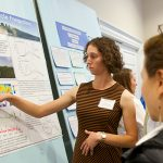 Environmental science major Verena Joerger '15 presents her research at MARCUS 2014.
