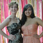 Seniors Ashlynn Watson and Mayalin Quinones, seen at Junior Banquet, are friends and collaborators.