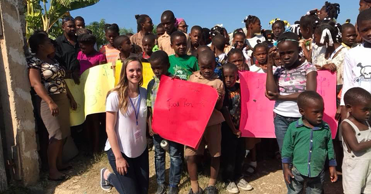 Colleen and kids in Haiti