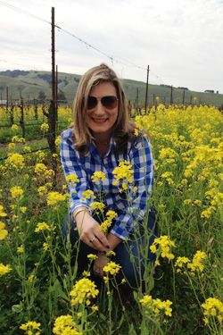 Cady Thomas during a recent trip with friends to Sonoma, Calif.