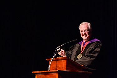 President Stone reprised the can-do themes that keep working miracles in his Opening Convocation remarks on Wednesday.