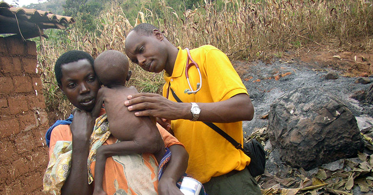 """Deogratias """"Deo"""" Niyizonkiza founded Village Health Works in his native Burundi. One of the organization's newest projects is a women's health pavilion, which it hopes to break ground on in 2015. Credit: Courtesy of Village Health Works."""