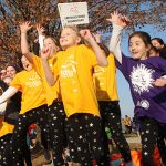 Girls on the Run participants have a blast at the fall 2016 5K at Sweet Briar.