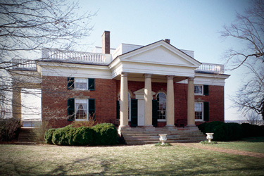 This plantation home along the James River in Bremo Bluff, Va., is an example of Palladian influence on American architecture.