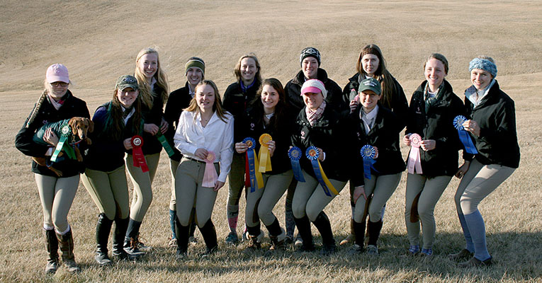 Sweet Briar's IHSA team took first place at Saturday's show at Randolph College.