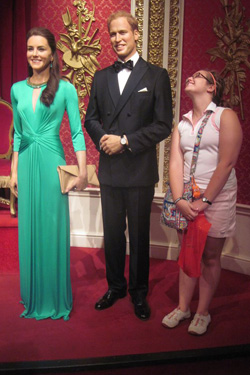 Jessie Schuster at Madame Tussauds in London