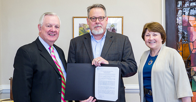 John Gregory Brown receives resolution.