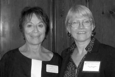 Margaret Scouten (left) and Mary Jane Cowles