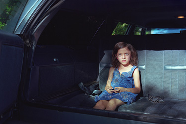 "Cynthia Henebry, ""Mavis in the Backseat"" from ""The Marriage Oaks,"" 2014, archival inkjet print. Courtesy of the artist."