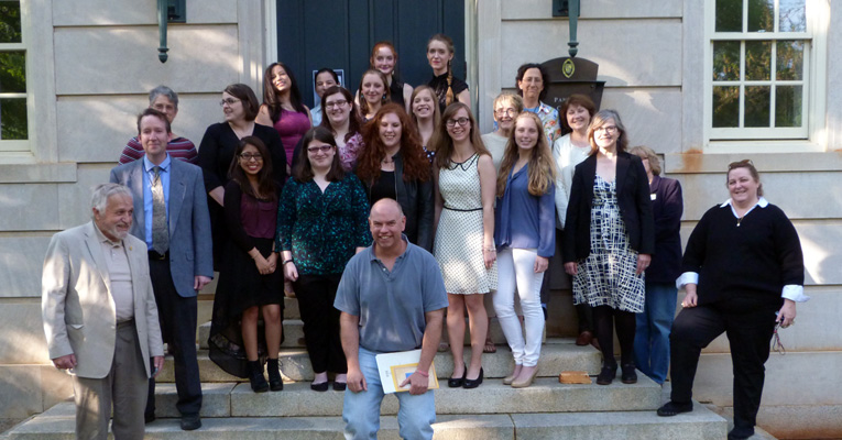 Phi Beta Kappa inductees and faculty/staff members. Photo by Perry Tourtellotte.