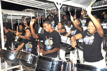 Skiffle Steel Orchestra performs at the 2010 Panorama competition. Photo by Lesley Ann Samuel.