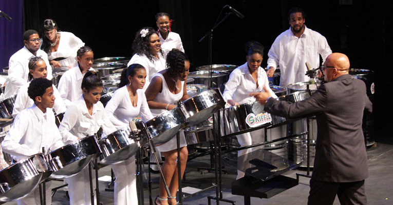 Trinidad's famed Skiffle Steel Orchestra will perform at Sweet Briar on Sept. 11.