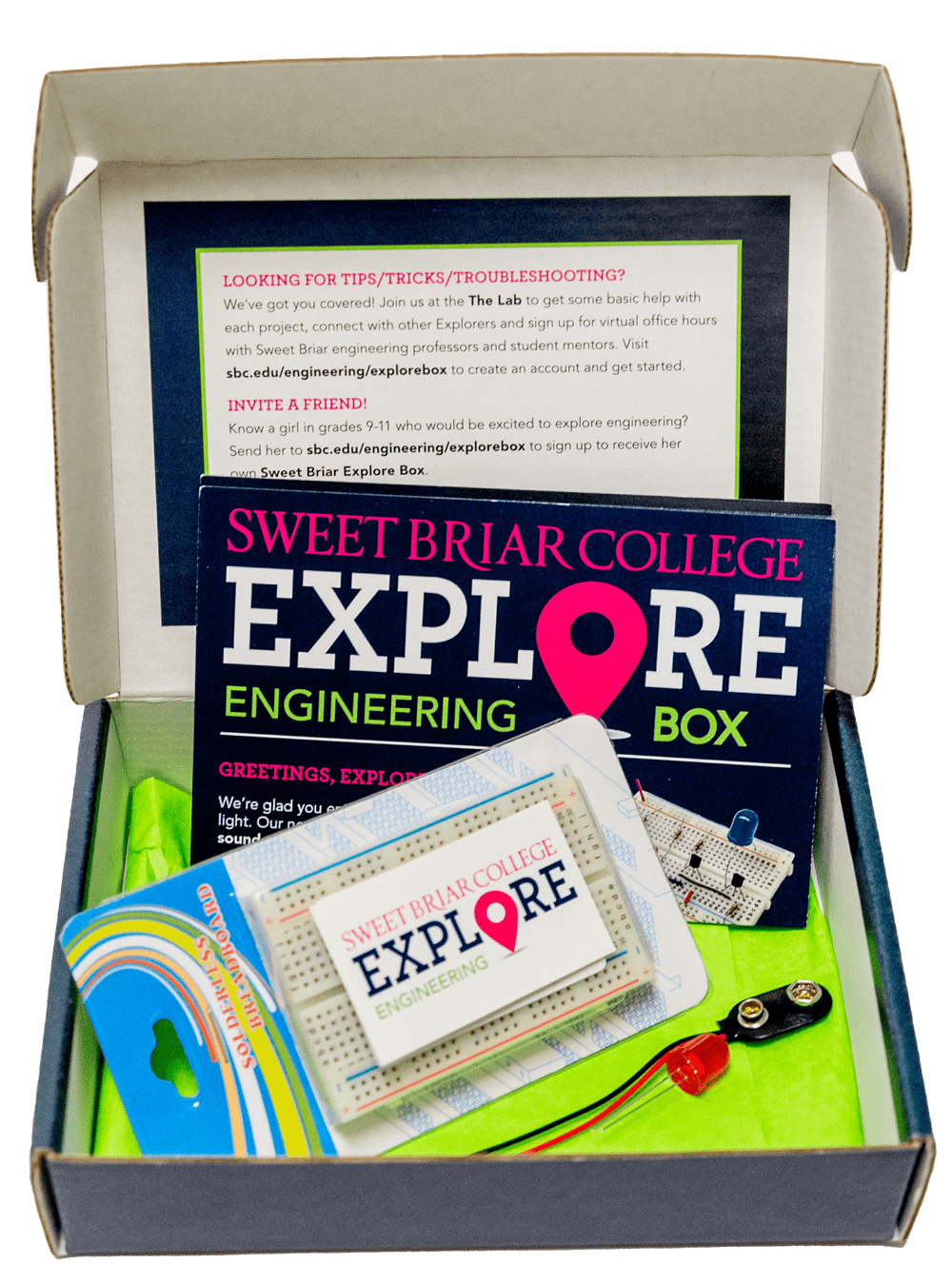 Sweet Briar College Explore Engineering Box